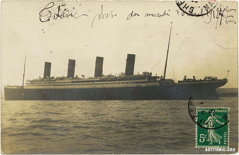 cherbourg france real photo postcard rppc carte postale rare rarest most valuable titanic 1912