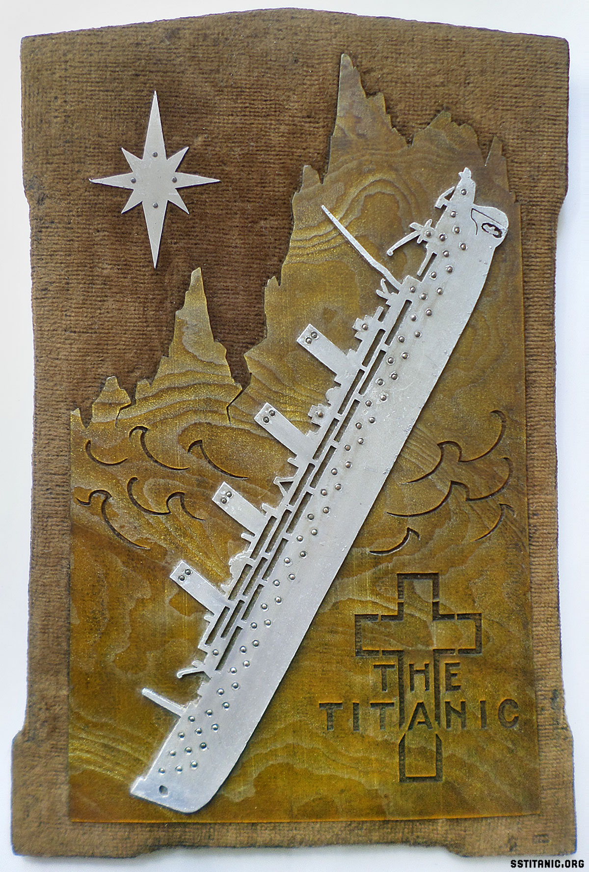 memorial scroll saw commemorative piece titanic 1912