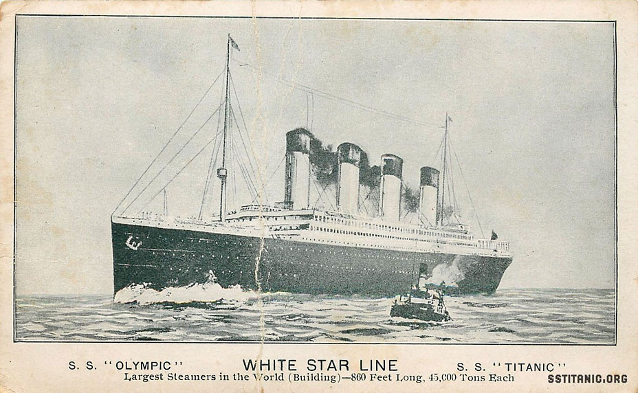 pre sinking disaster rare scarce postcard olympic titanic 1912