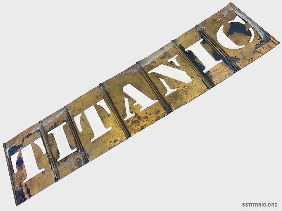 reese brass lockedge stencil letters adjustable cargo baggage titanic 1912