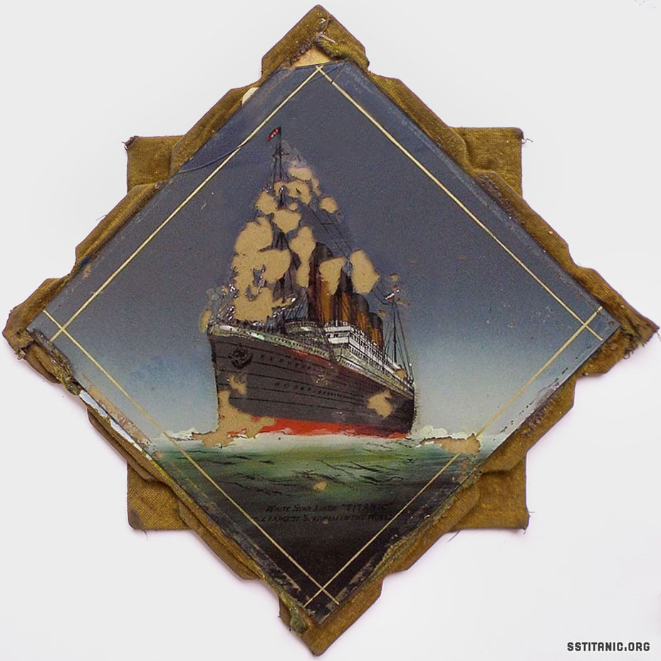 reverse glass painting diamond shape pre sinking titanic 1912