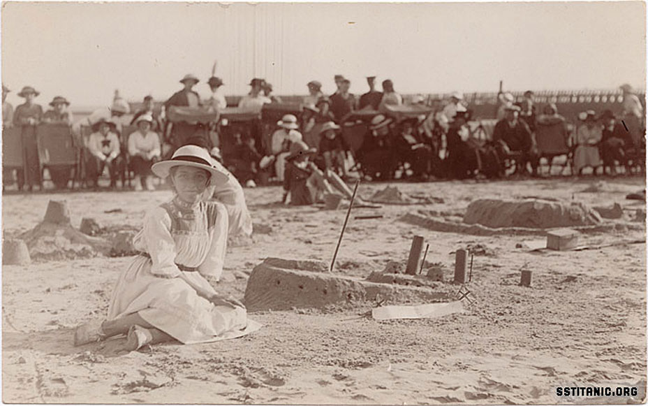sand castle postcard wareham littlehampton rppc real photo postcard titanic 1912