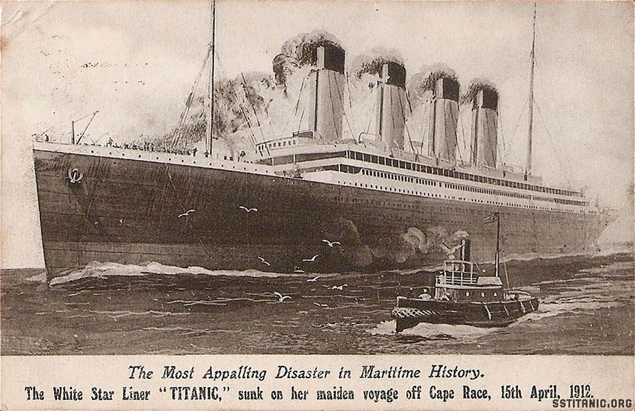 valentine s series postcard post sinking titanic 18 april 1912